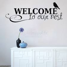 welcome to our nest words vinyl removable wall decal