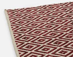 matisse hand made wool and cotton rug 6 x 9 red