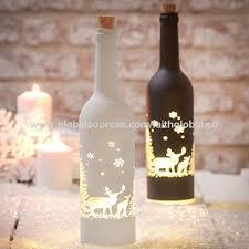 china glass bottle with led