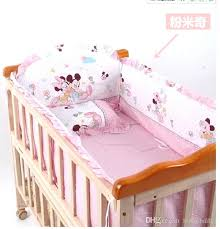 minnie crib bedding set baby crib bedding set mouse bedding set cotton bedclothes bed decoration include