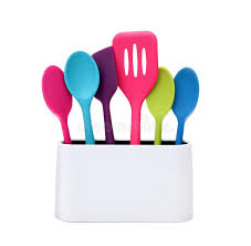 Modern Cooking Colorful Kitchen Utensils Stock Image Image of