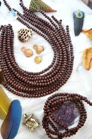 6mm redish brown wooden beads 1