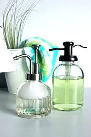 petite foaming soap dispenser glass k00915 amber glass soap dispenser glass soap pump glass foaming soap