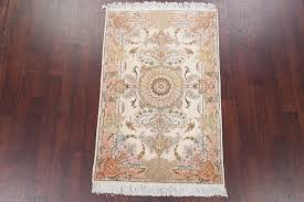 beige animal print tabriz hand knotted persian style oriental area rug 5 3 x3 5 traditional area rugs by rugsource inc