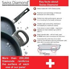 swiss diamond cookware. Exellent Swiss Amazoncom Swiss Diamond Nonstick Fry Pan With Lid  125 Intended Cookware Y