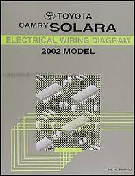 2002 toyota camry solara wiring diagram manual original