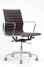 office leather chair. brickell collection dk brown leather office chair o