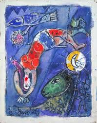 marc chagall the blue circus 1950