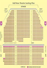 Hull New Theatre Seating Plan View The Seating Chart For