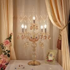 European Style Wedding Crystal Table Lamp Living Room Bedroom Modern Desk  Lamp Exhibition Hall Beauty Parlour
