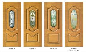 solid wooden doors with glass panel