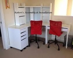 ikea micke corner station and two desks excellent condition desks corner and room