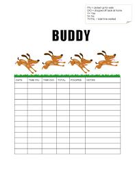 Free dog-walking log template samples in Word and PDF Dog-walking log sample 2