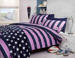 harvard printed duvet set pink free uk delivery terrys fabrics blue and white stripe bedding twin