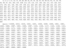 How To Produce A List Of Prime Numbers In Latex Tex
