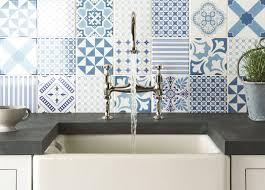 Top 15 Patchwork Tile Backsplash Designs For Kitchen Blue Bathroom