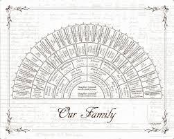 My Fan Chart Custom Family Tree 16x20 6 Generation Fan Chart With Ship