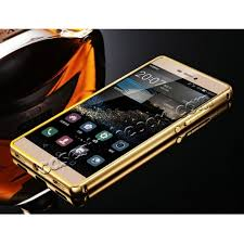 huawei p8 gold price. discount luxury aluminum frame with smooth mirror acrylic back cover for huawei p8 lite - black gold price 8