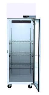 glass door lab fridge