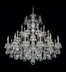 schonbek 1718 40 century 28 light silver crystal chandelier undefined