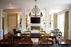 French Country Lighting Fixtures Family Room Traditional With Breakfast  Area French Country