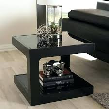 modern black end table studio with 2 metal side marble blac