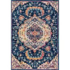 abigail ulani midnight blue 13 ft x 15 ft oversize rug midnight blue