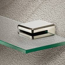 glass shelf clamp support for 8mm shelf thickness stainless steel