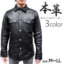 shirt leather shirt genuine leather cowhide leather shirt men m l ll black black