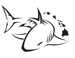 Outline Of A Shark Shark Outline Great White Shark Outline