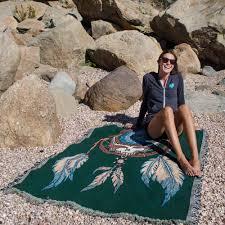 Dream Catcher Blankets Grateful Dead Dreamcatcher Stealie Woven Cotton Blanket Little 60