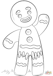 Gingerbread Man Coloring Page Men Pages 9