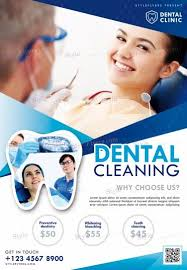 Cleaning Brochure Dental Cleaning Psd Flyer Template