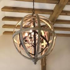 rustic orb chandelier retro rustic weathered wooden globe ideas for you