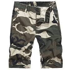 <b>Icpans</b> Casual Shorts Army Cotton <b>Camo</b> Shorts Men Summer Knee ...