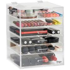 clear whole acrylic makeup organizer with drawers