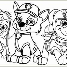 Interesting Inspiration Free Paw Patrol Coloring Pages Awesome Chase