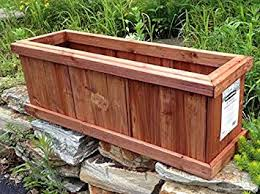 outdoor planter boxes. Set Of 2 Pennington Solid Wood Cedar Outdoor Planter Box - Heartwood 28\u0026quot; L Boxes A