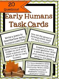 best early humans ideas human evolution stone this resource includes 20 task cards related to the study of early humans