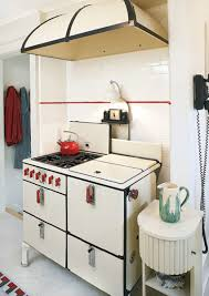 1930s kitchen design. Interesting 1930s A Vintage Stove Occupies A Tiled Alcove In This 1930s Kitchen Inside Kitchen Design