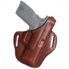 belt holster closed at the bottom right hand black sig sauer p220 226