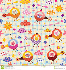 cute s in helicopters kids pattern