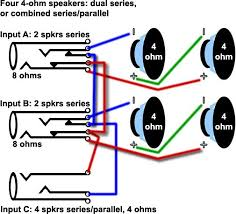 subwoofer wiring diagrams 4 ohm wiring diagram Subwoofer Wiring Diagram Dual 4 Ohm subwoofer wiring diagrams two 4 ohm dual voice coil dvc speakers Dual 4 Ohm Sub Wiring