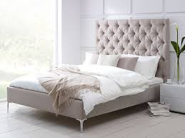 High Headboard Bed Elise Tall Buttoned Headboard Upholstered Bed Living It  Up Beds