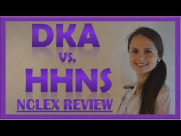 Hhs Vs Dka Chart Dka Vs Hhs Hhns Nclex Review