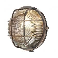 coastal style exterior bulkhead light in antique copper