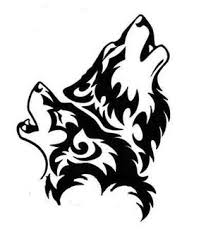 howling wolf drawing tattoo. Perfect Drawing Howling Wolves Tattoo In Howling Wolf Drawing W