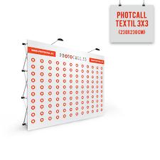 photocall textil 3x3 230x230 cm