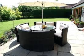 round garden table new rattan outdoor garden furniture round table sofa parasol set garden table ideas