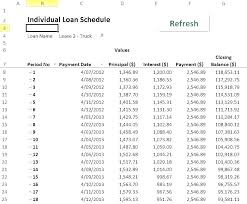 Vehicle Amortization Chart Image Titled Calculate A Car Loan In Excel Step 3 Formula